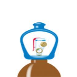 alphagaz™  1 helium cylinder smartop l50