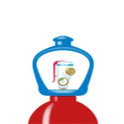 alphagaz™  1 hydrogen cylinder smarto...